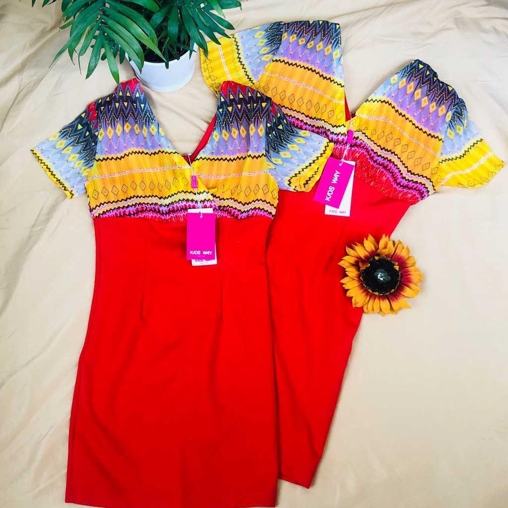 New Kids Way Dress (128cm & 146cm)-2pcs