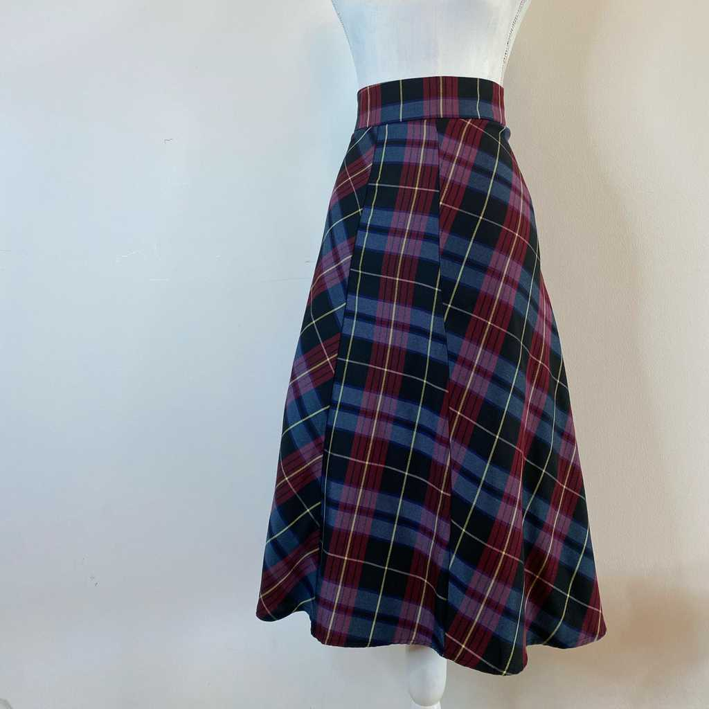 Gorgeous plaid work midi skirt