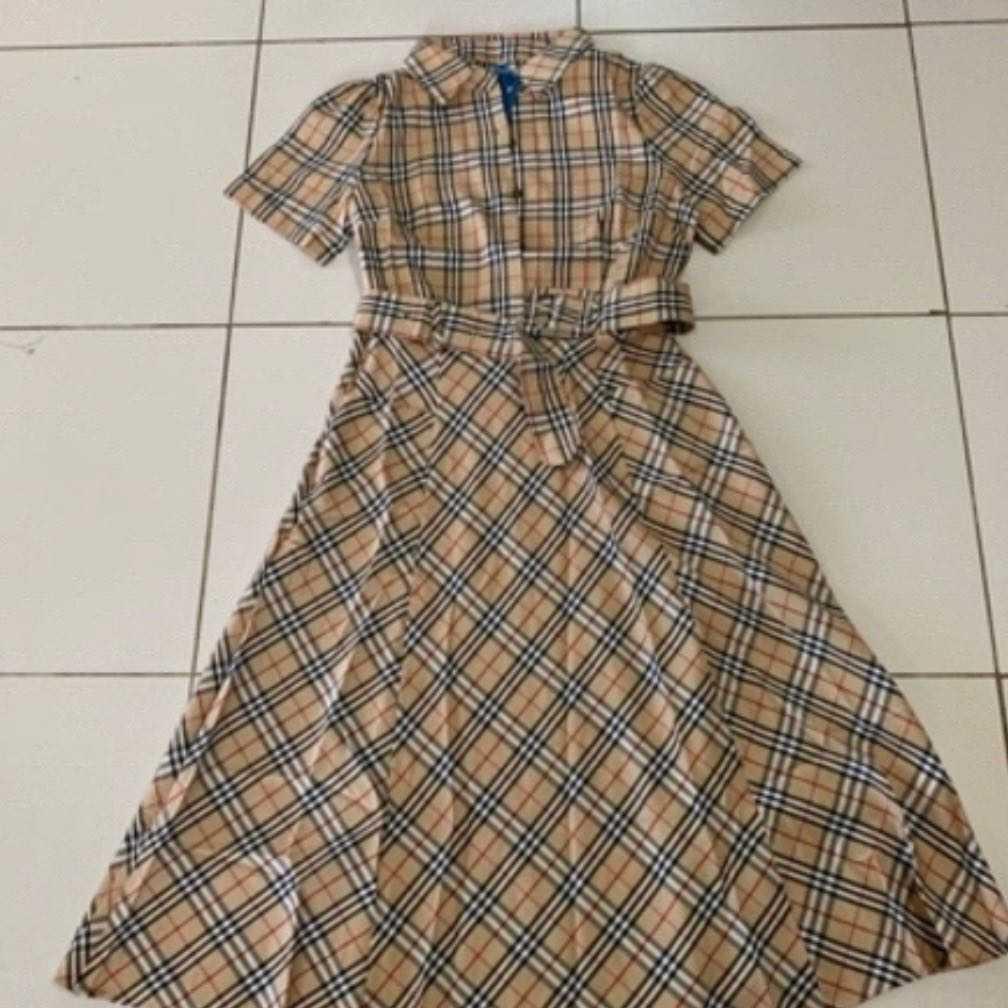 Burberry inspired dress