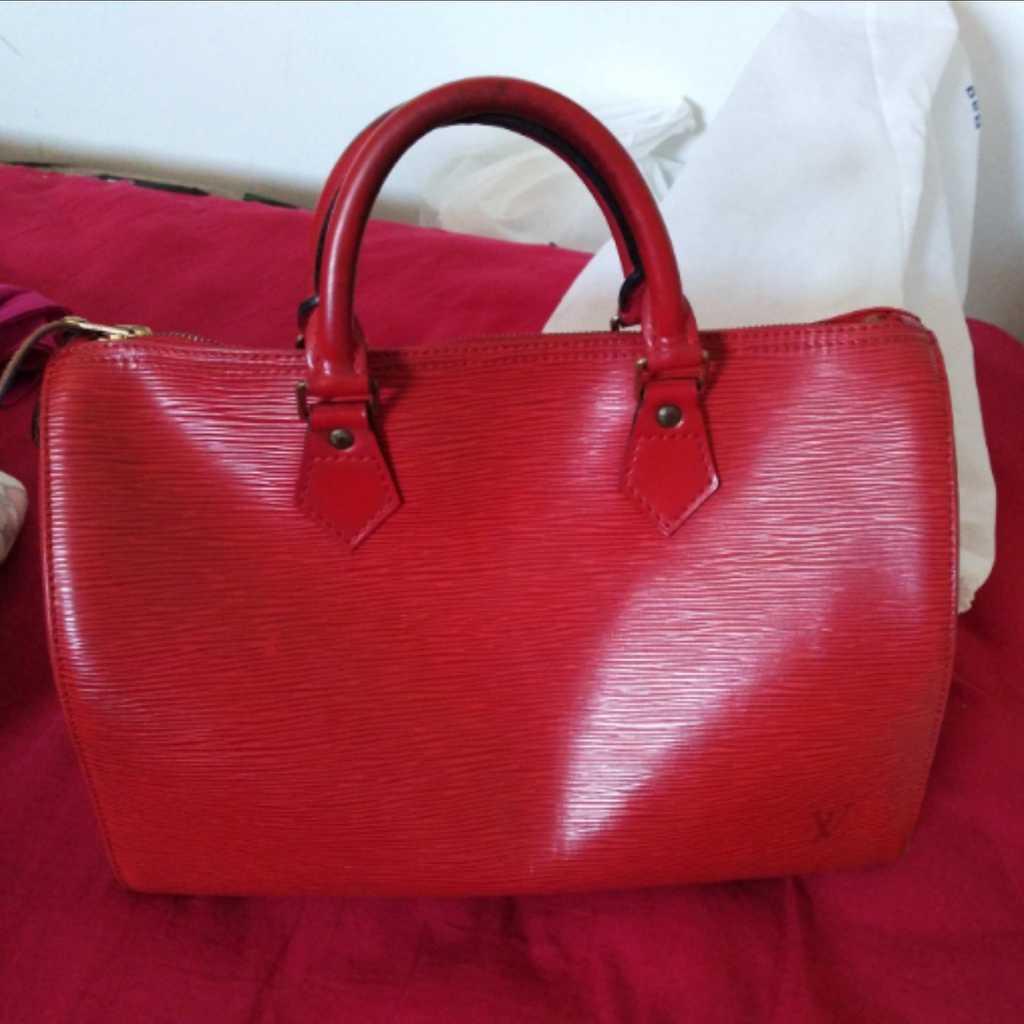 Louis Vuitton Speedy 30 Epi Leather in Red
