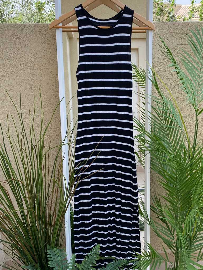 Stripped event dress