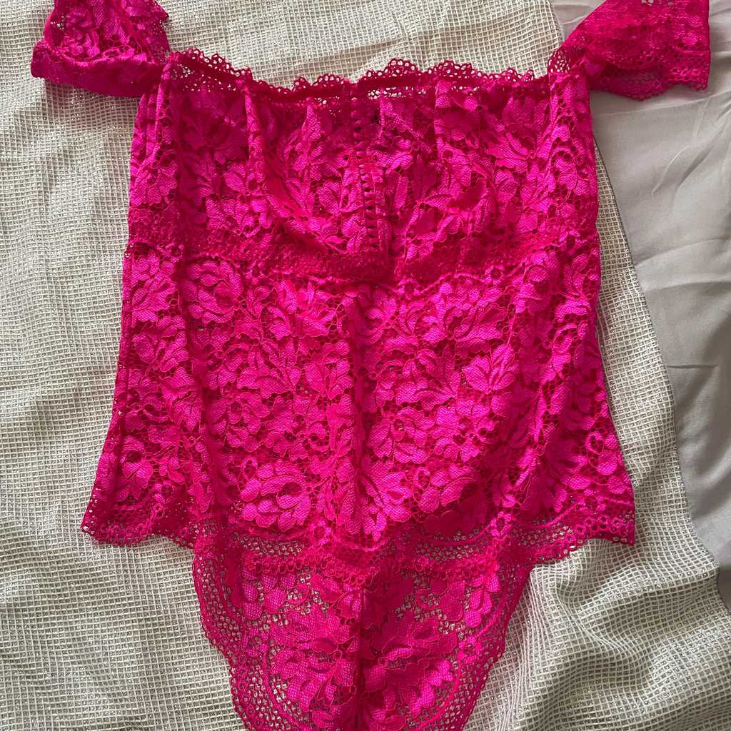 Never worn hot pink bodysuit lasenza medium