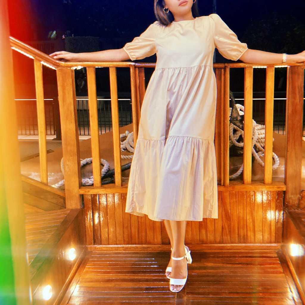 Long dress light brown