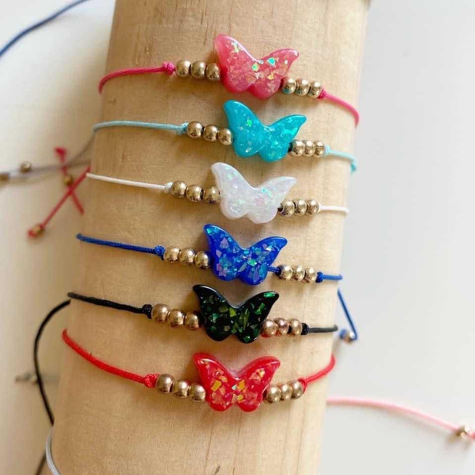 Butterfly friendships bracelet