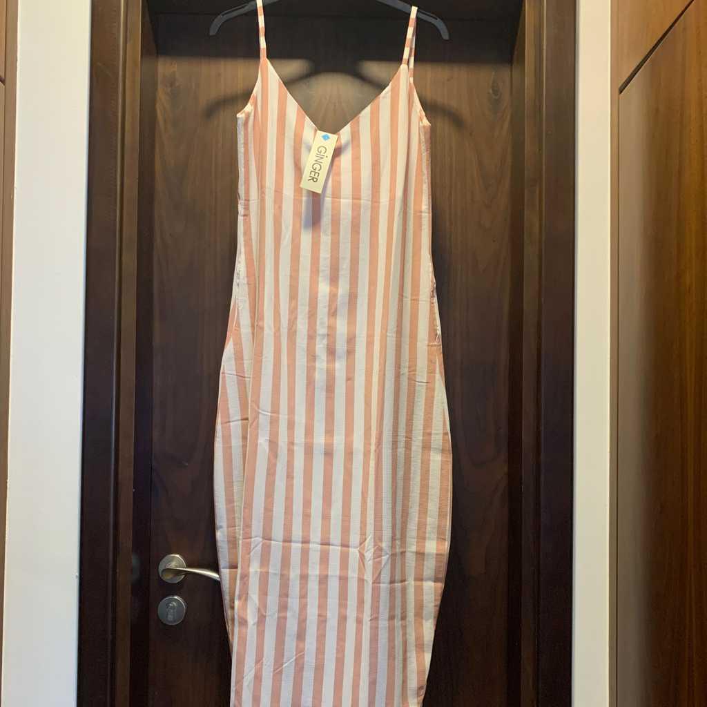 Pink Striped Maxi Dress