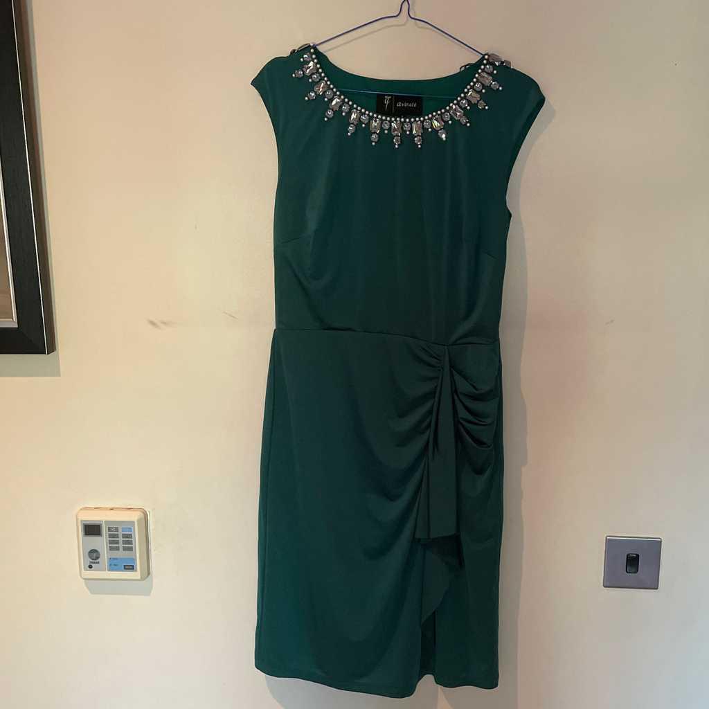 Green dress satin material