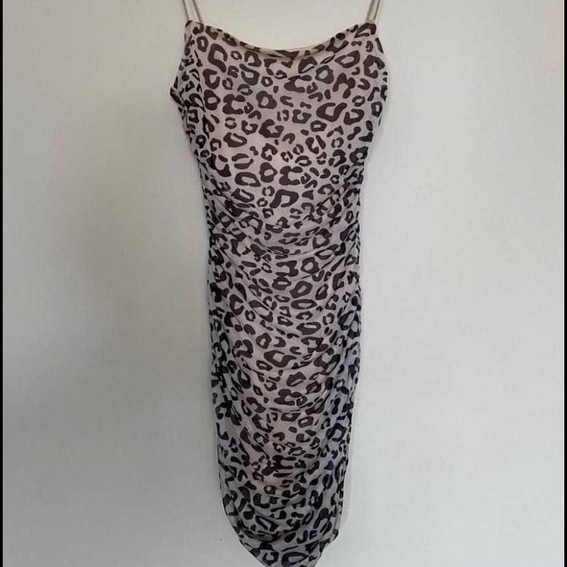 Beach city leopard print dress