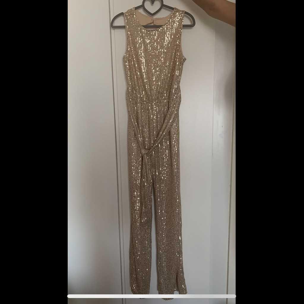 Champagne gold color jumpsuit- Shopbeach city