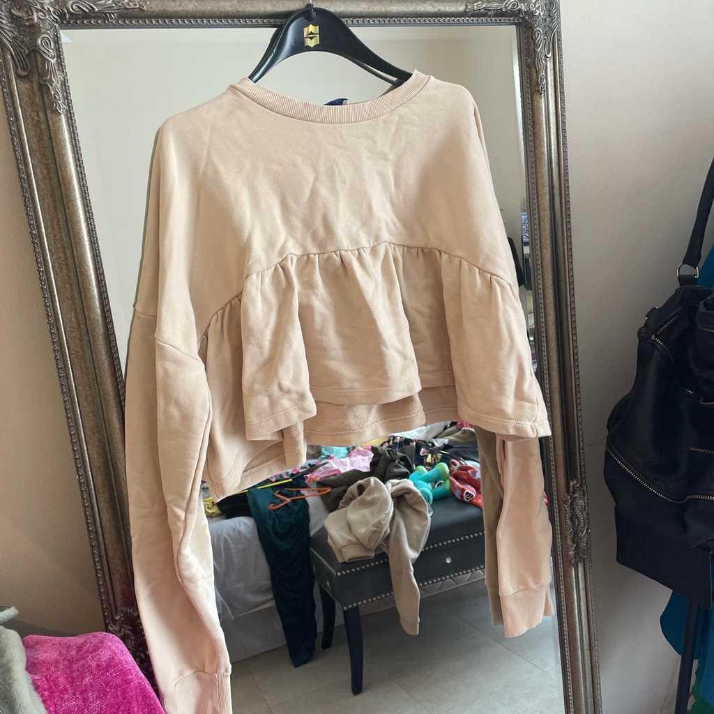 Zara peplum jumper size small worn once