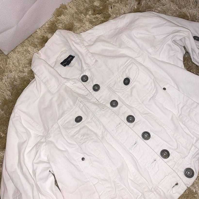 New Look Off White Cropped Jacket