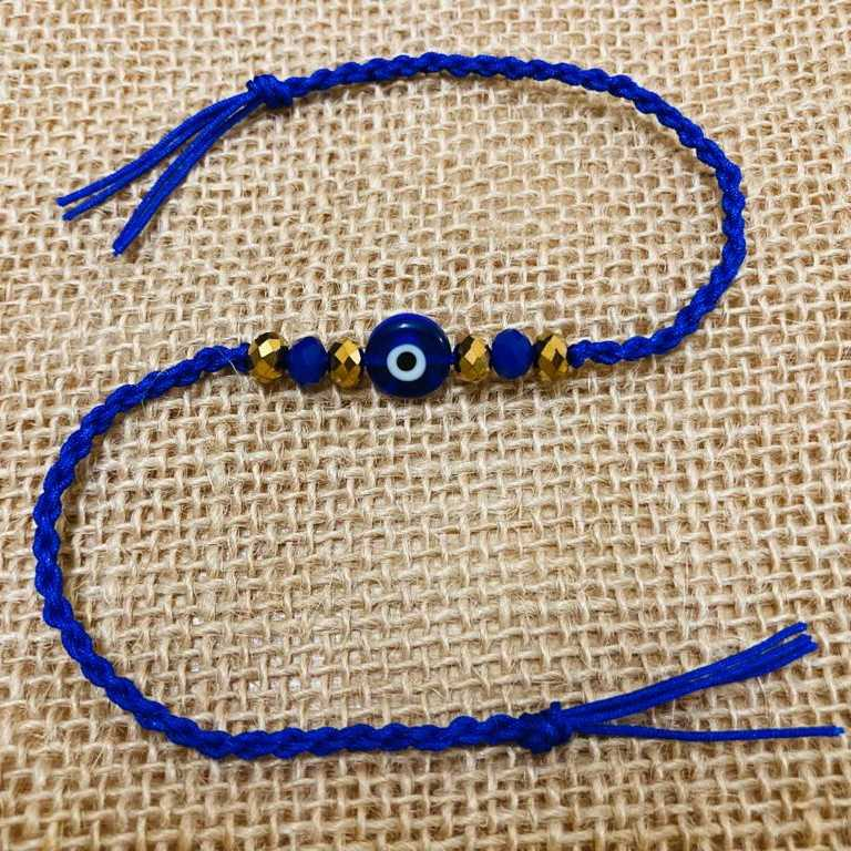 Single color rakhis with golden accents
