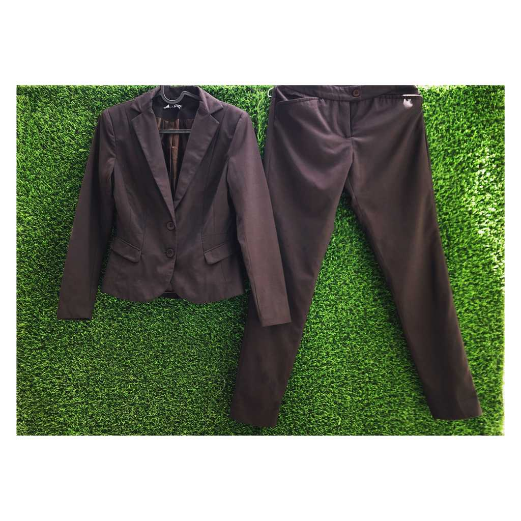 Chocolate Brown Blazer and Pants