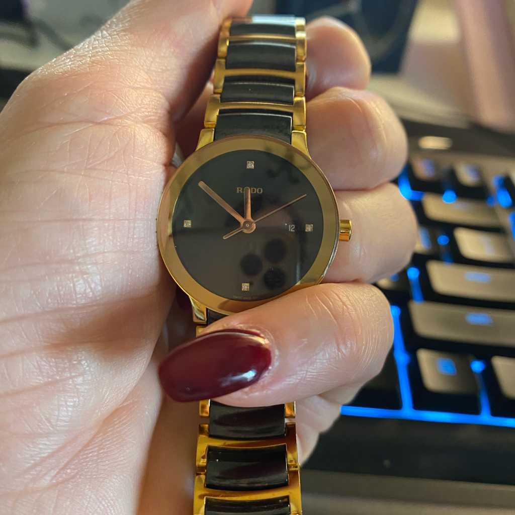 RADO Centrix Diamond Watch, Women, Pink-Grey