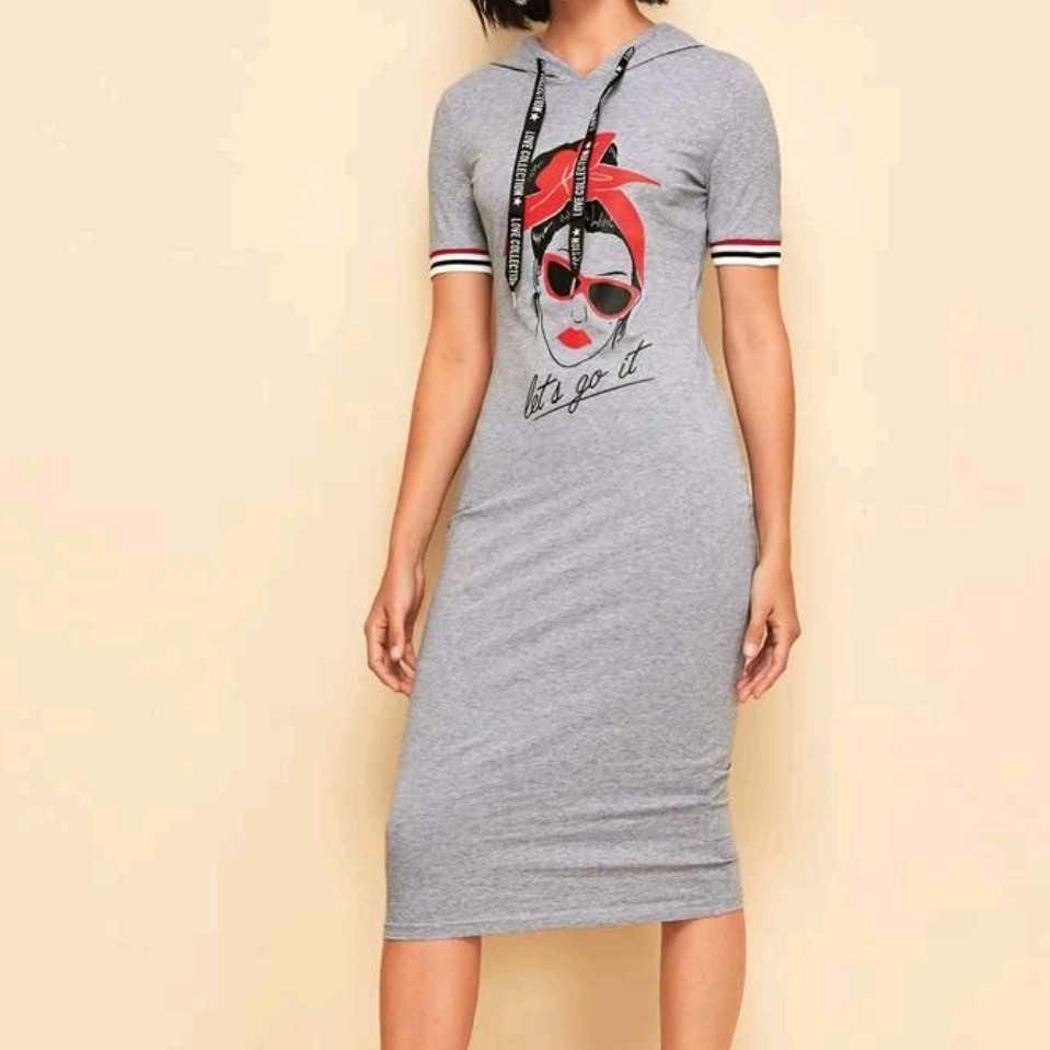 Shein Hooded Dress