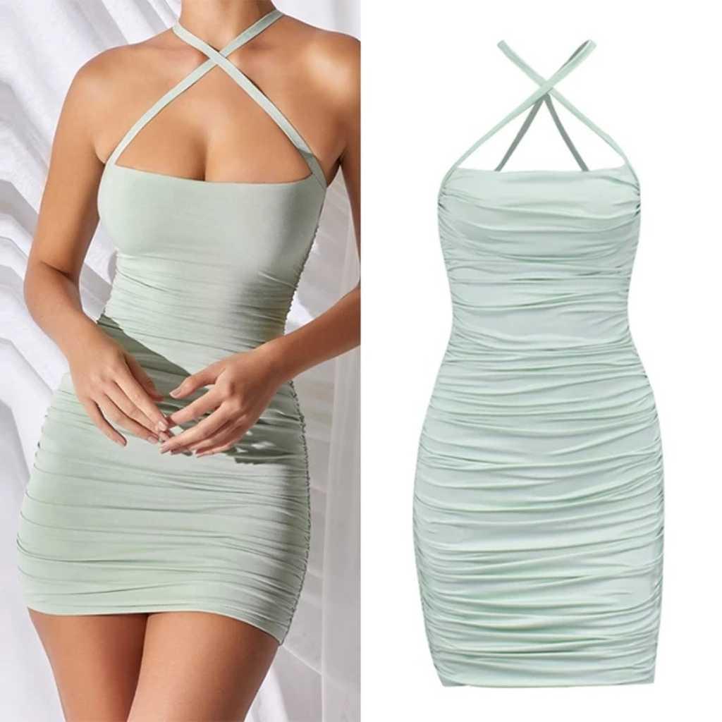v-Neck Halter Party Dress