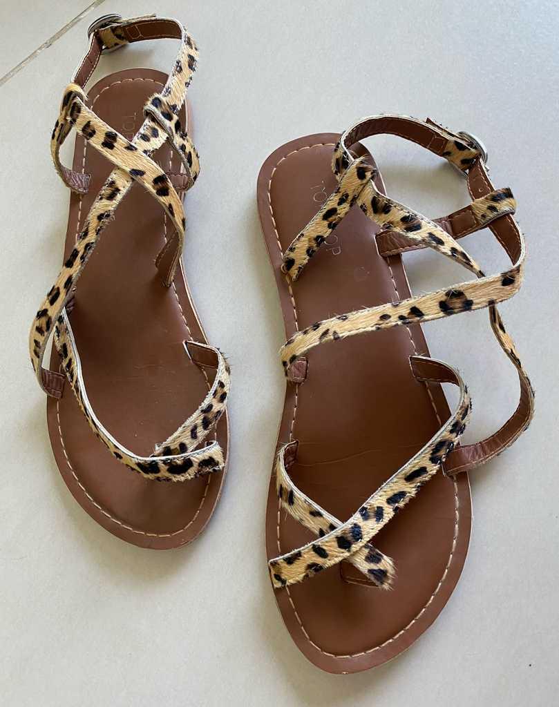 Topshop Tiger print Sandals Size 5/38