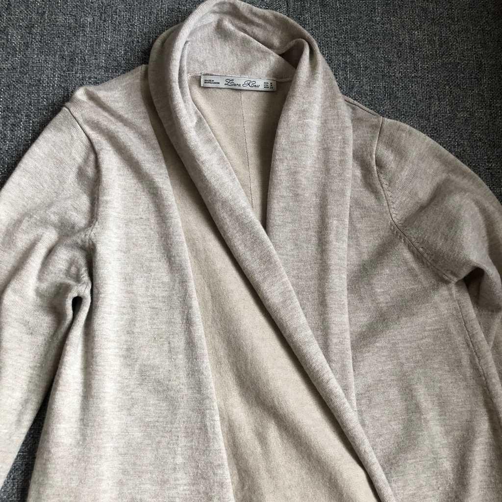 Zara knit beige open cardigan
