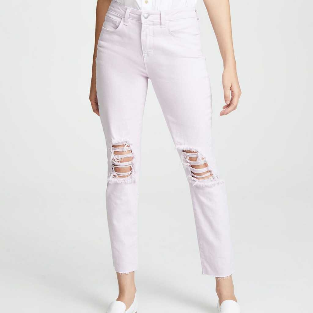 L'agence high rise straight jeans in lilac