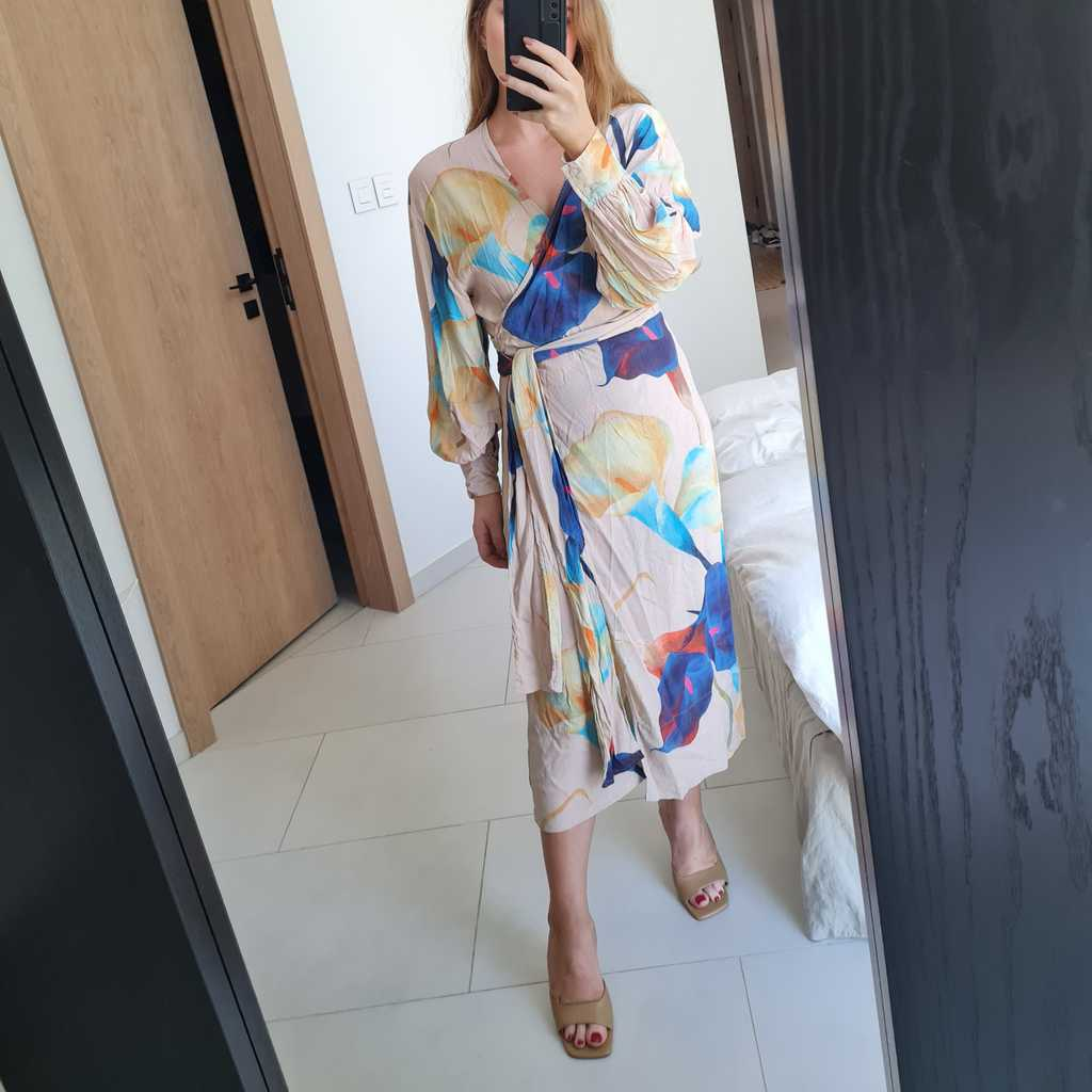 Weekday colourful wrap dress