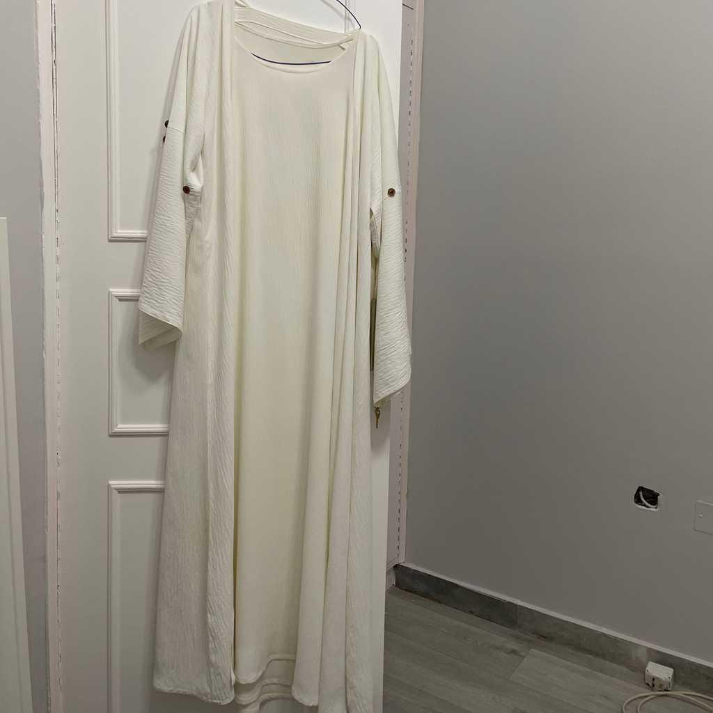3 piece abaya, dress, and a skirt