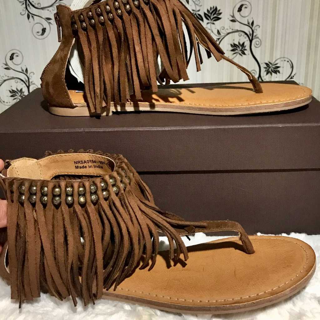 Not rated leather boho sandals
