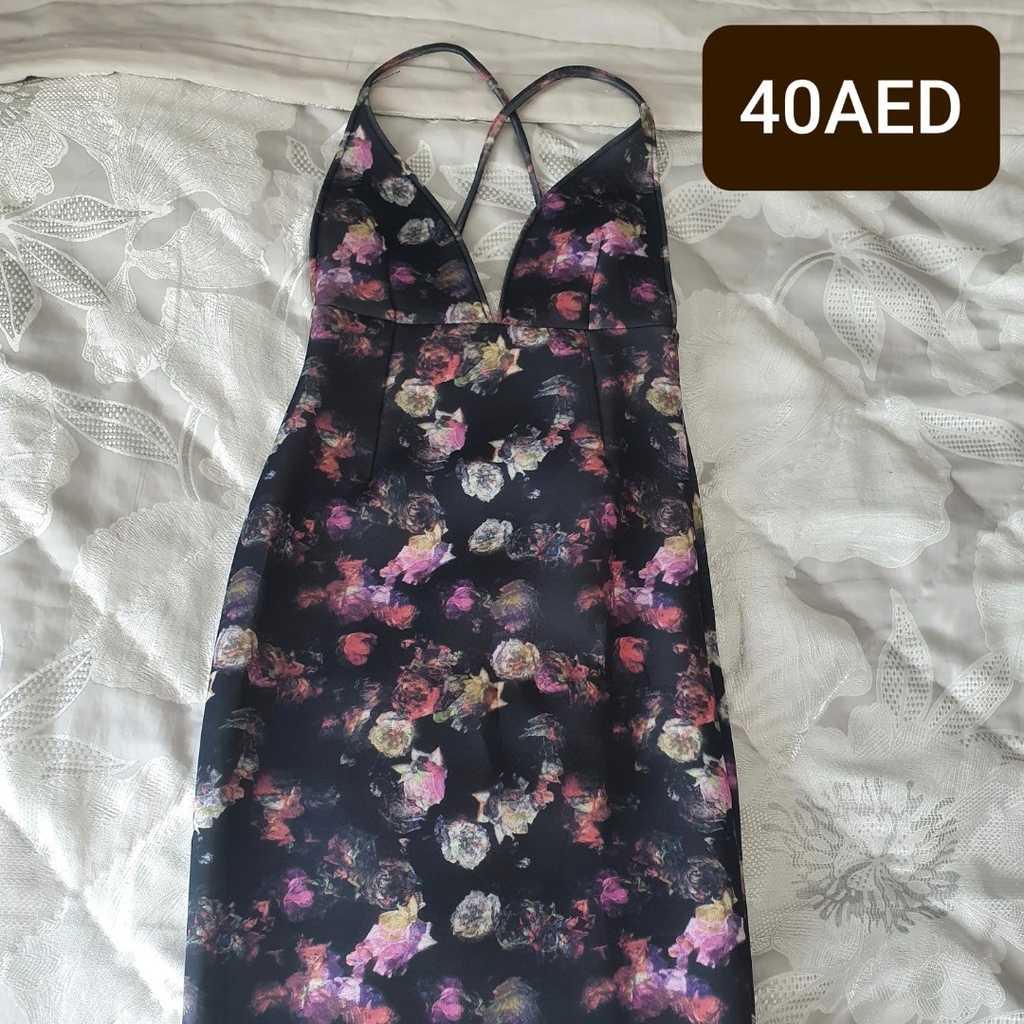 Floral low back dress