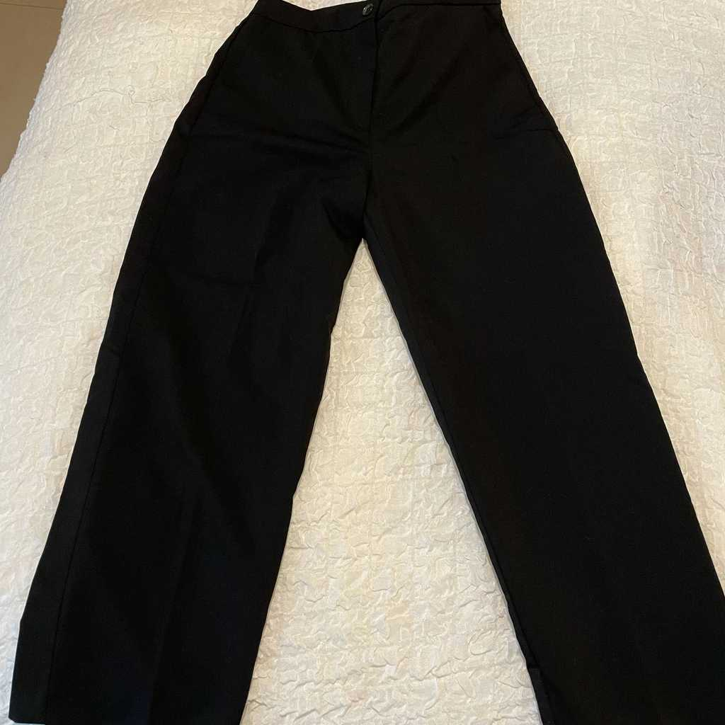 Mango black office trousers