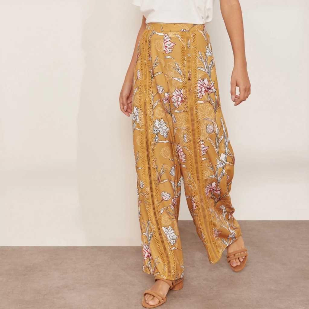 Finders keepers floral print wide leg pants