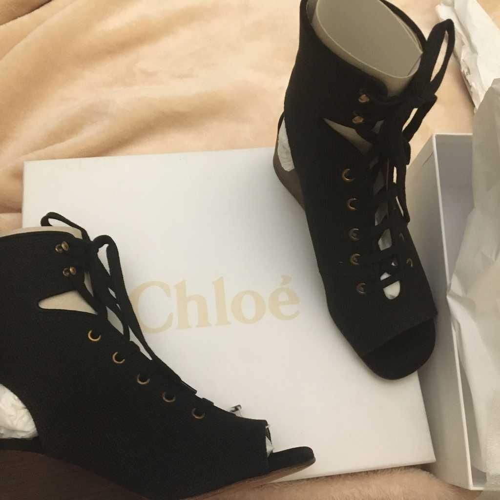Brand new chloe heels/wedges