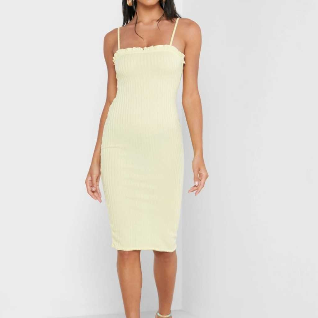 Lettuce Edge Ribbed Mini dress