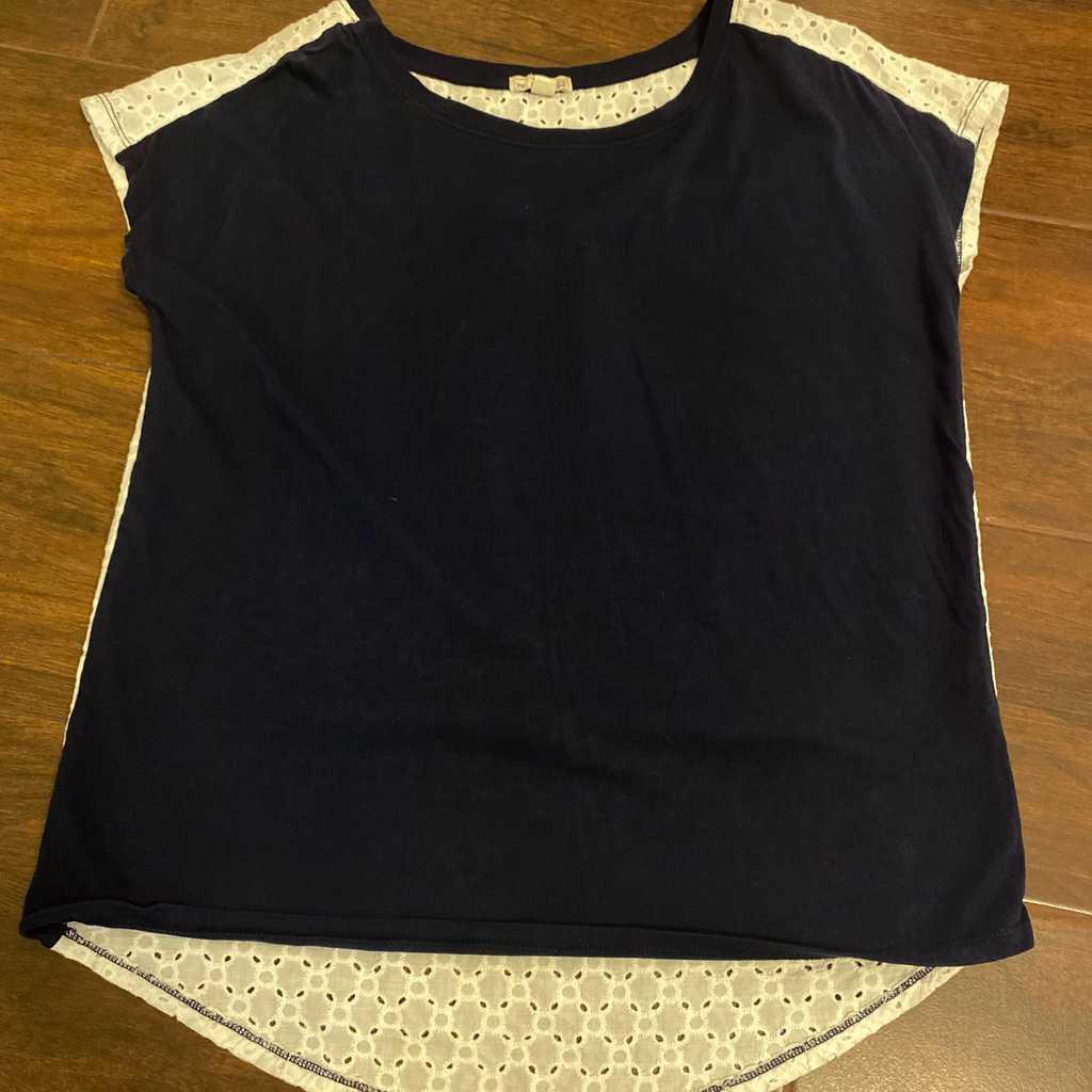 Gap Shirt Navy blue and white