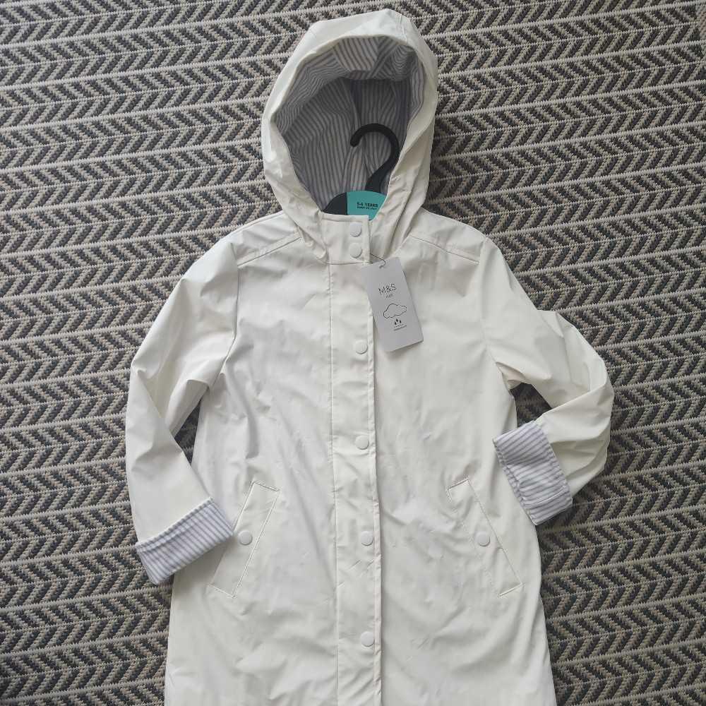 Marks & Spencer's White Raincoat