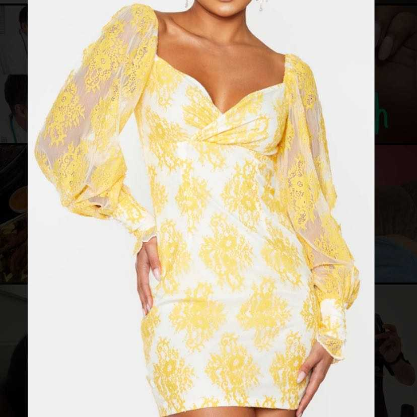 lemon lace bodycon dress BRAND NEW WITH TAGS