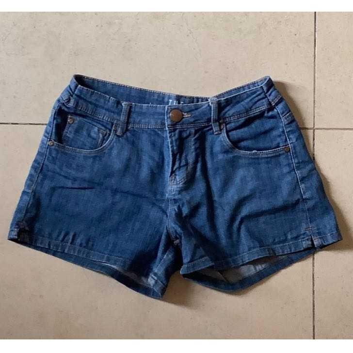 Denim Blue Shorts Wide Cut