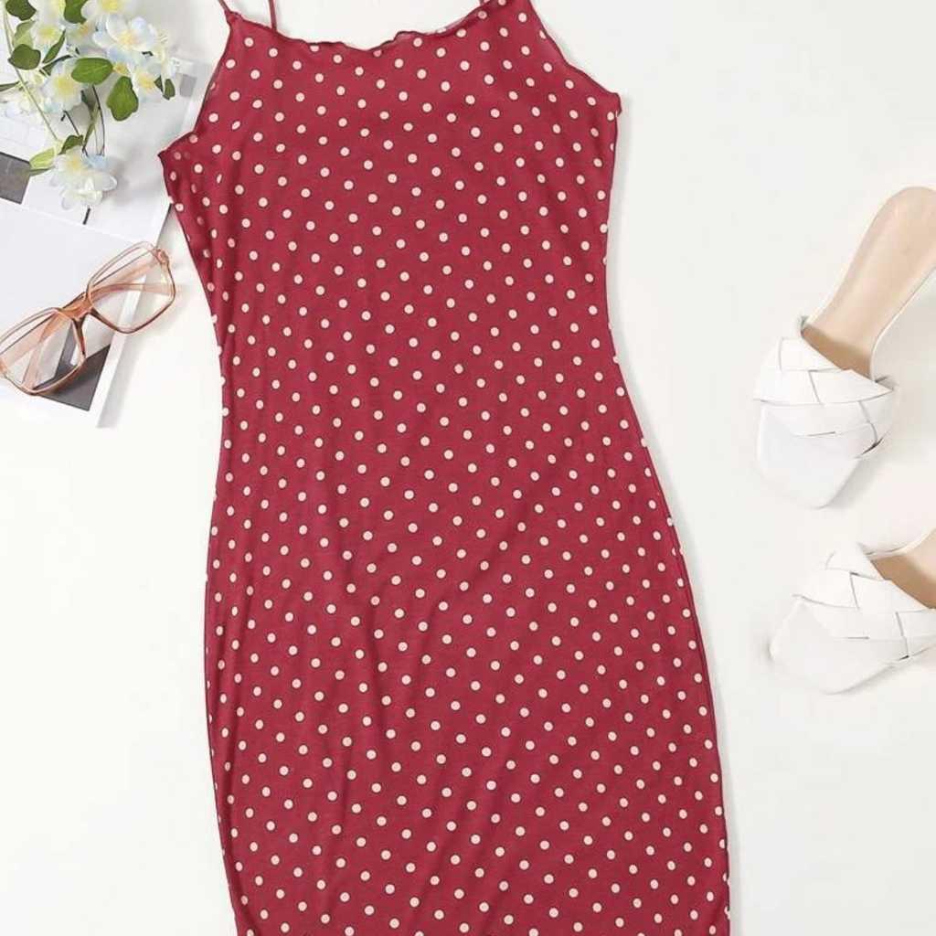Mini dress polka dot