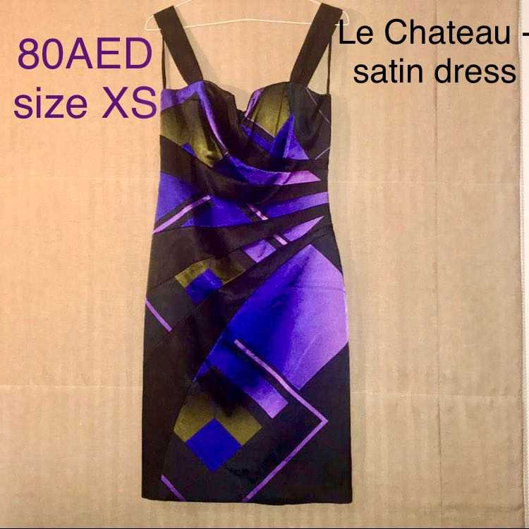 Satin dress size XS