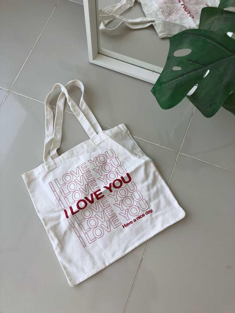 """Tote bag """"I Love You"""""""