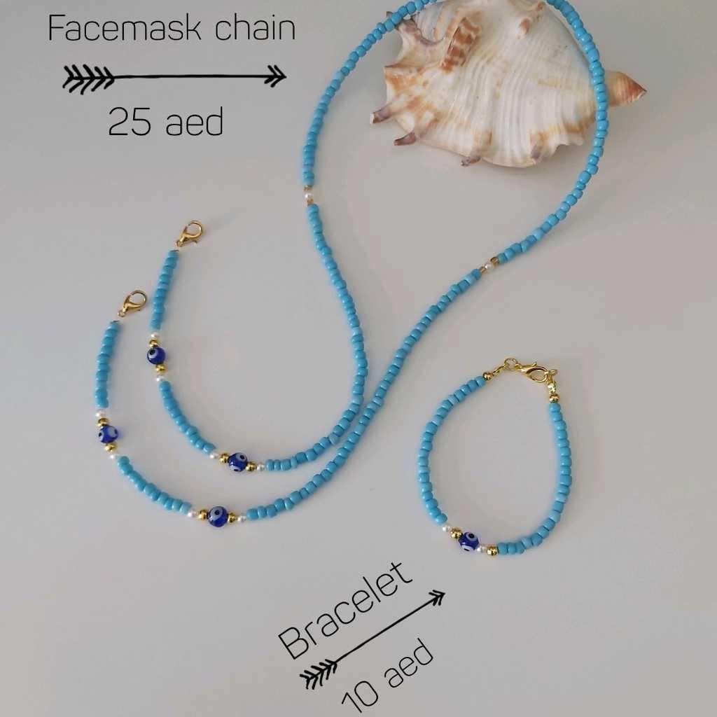 Handmade facemask chain