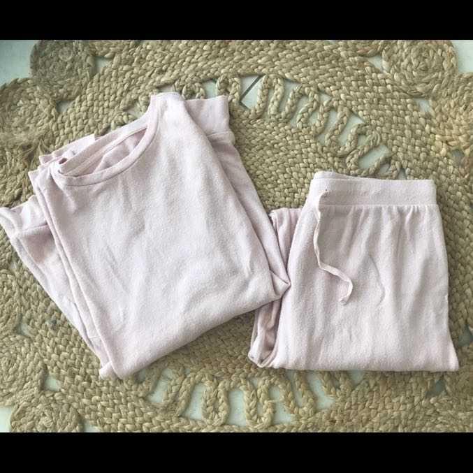 Pink soft loungewear set size 12