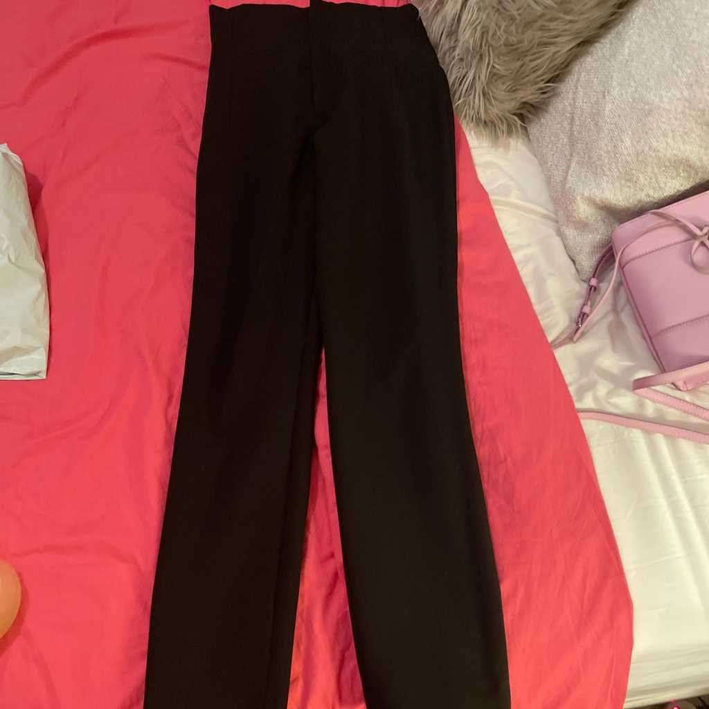 Zara black high waisted trousers Small size