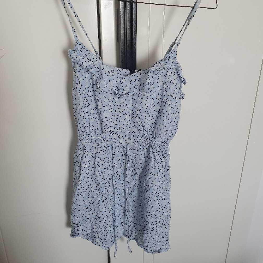 H&M blue floaty dress
