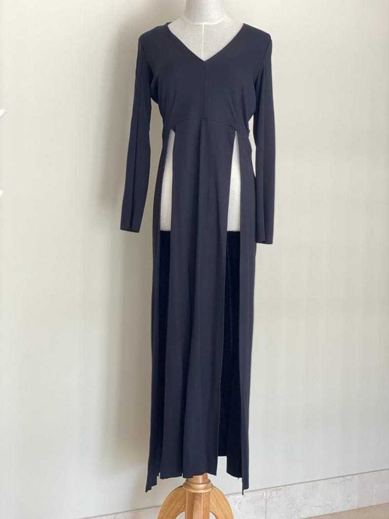 Long blouse with side slit