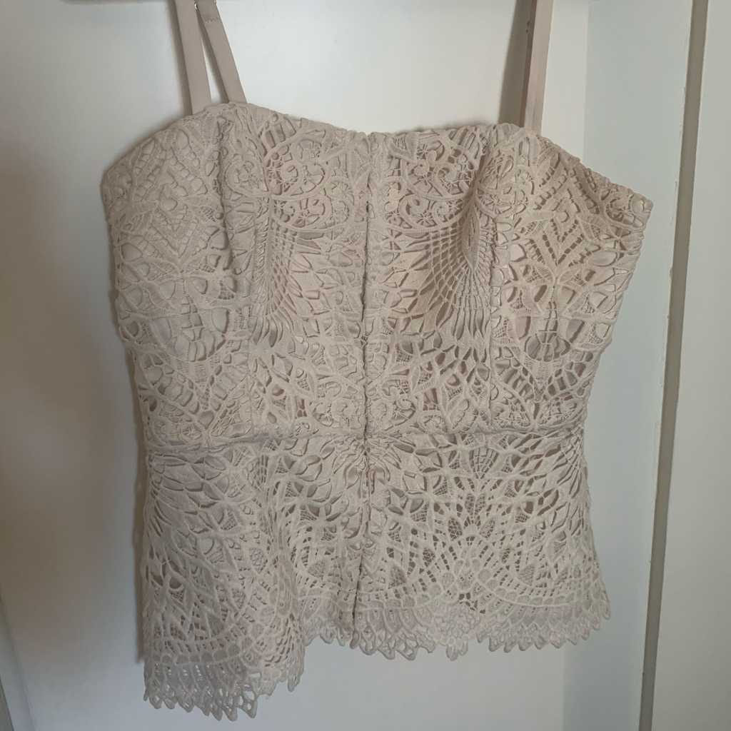 Marciano cream tube top with straps