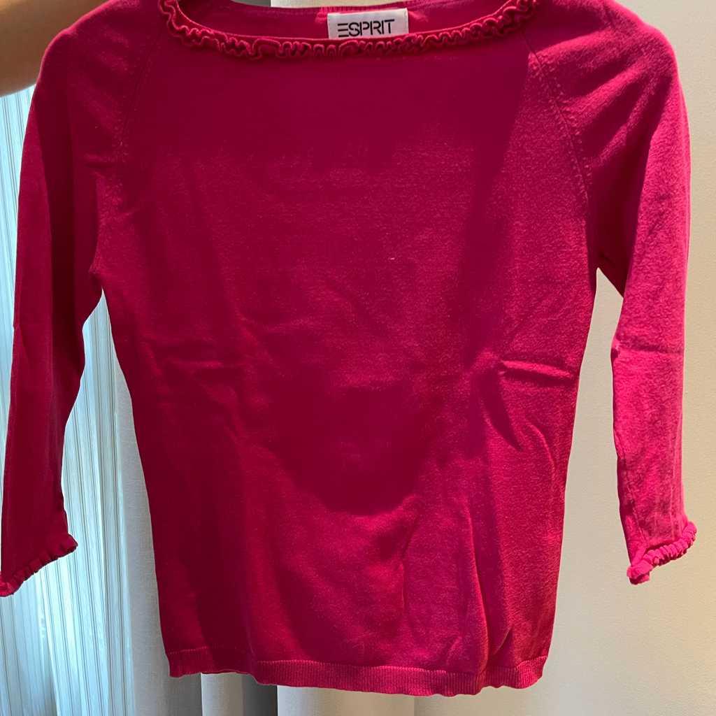 3/4 sleeve pink top