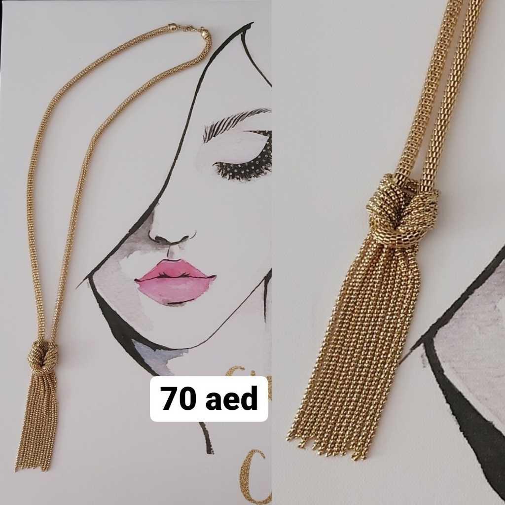 Handmade long necklace