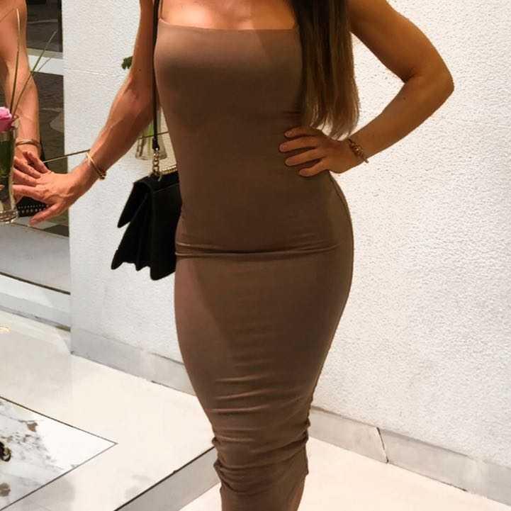 Oh Polly Brown Dress Matching Choker