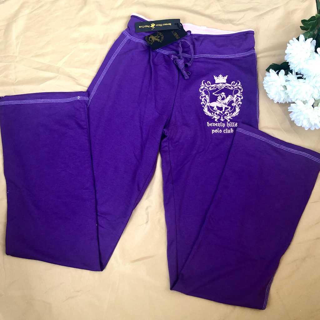 Purple Wide-leg Sweatpants BHPC