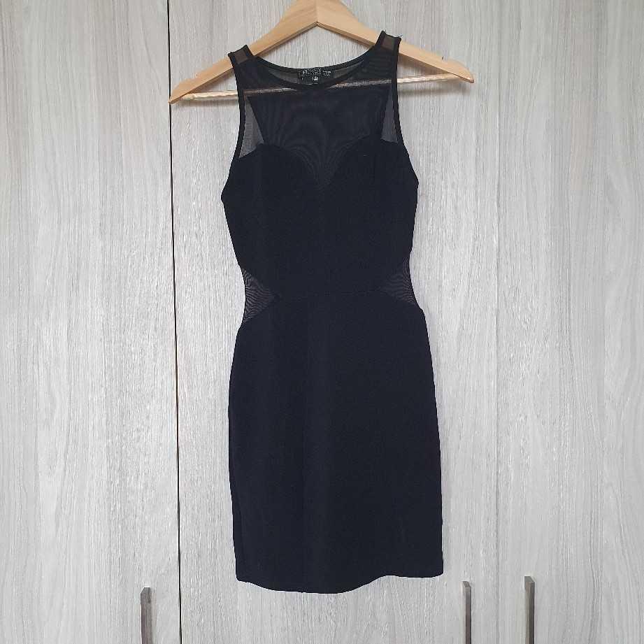 Bershka Black Mesh mini dress