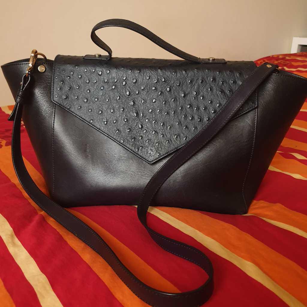 100% calf leather bag