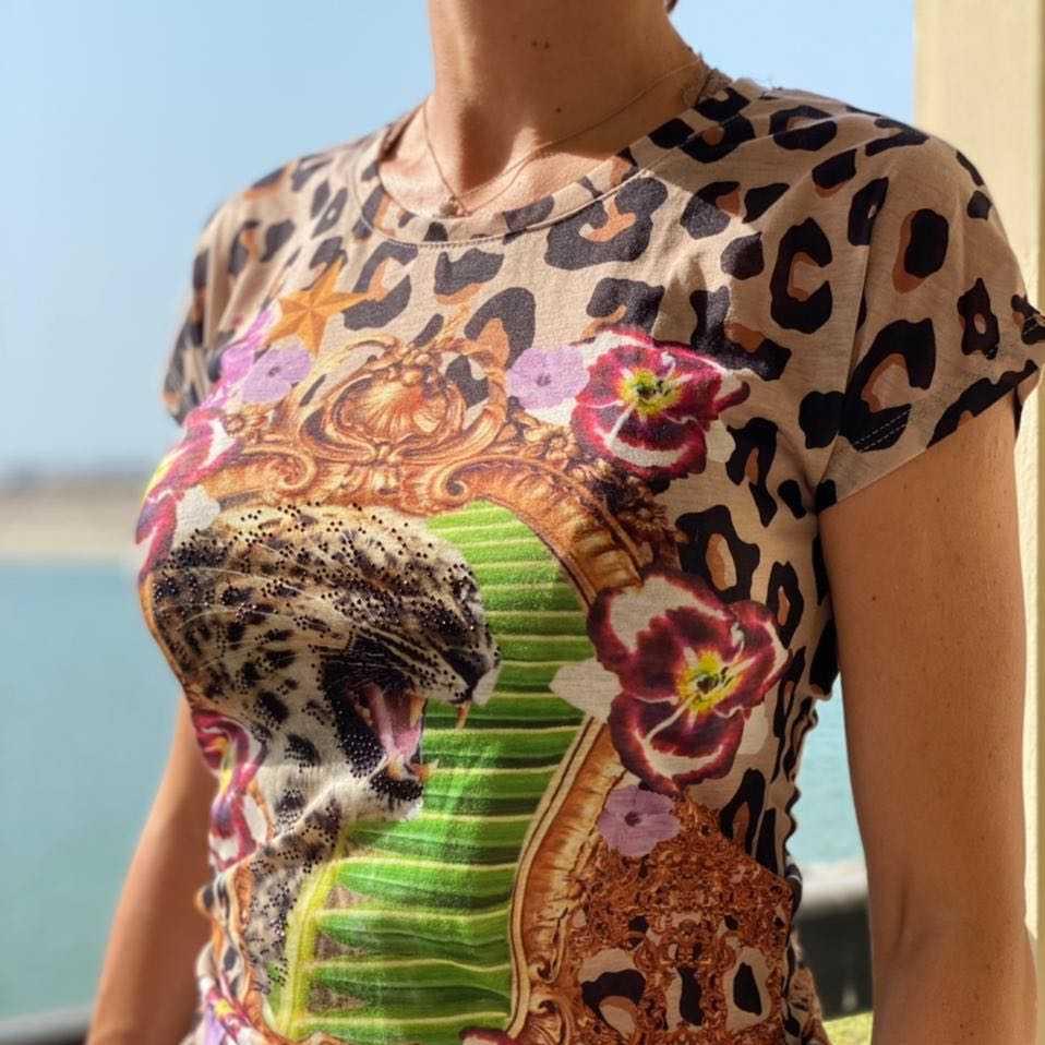 PHILLIP PLEIN Leopard Print T-Shirt